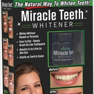 MIRACLE TEETH WHITENER Charcoal: Teeth Clean
